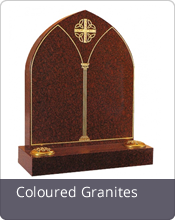 Coloured granite headstones
