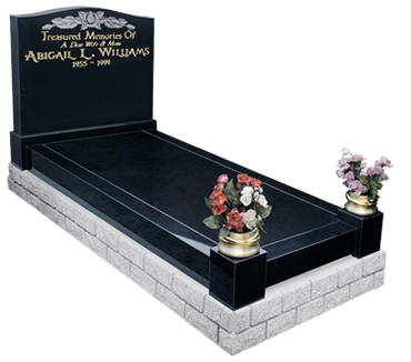 A Kerb Memorial with Cover Slab