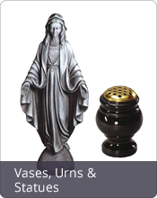 Statues, figures and Urns